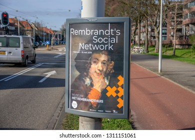 Billboard Rembrandt's Social Network At The Rembrandthuis Museum At Amsterdam The Netherlands 2019
