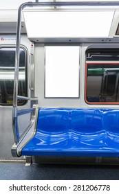 Billboard in the Subway cart.