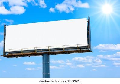 billboard and sun
