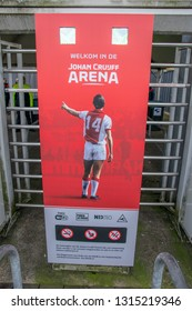 Billboard Welcome To The Johan Cruijff Arena At Amsterdam The Netherlands 2019