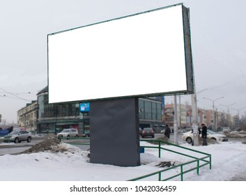 a Billboard with a white background