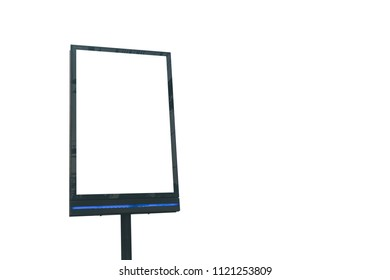 Billboard with white screen for advertiser or notice.