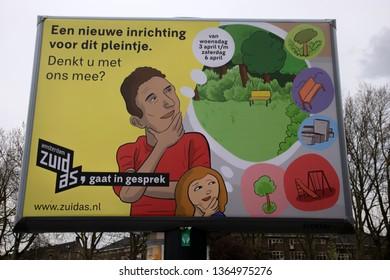 Billboard Zuidas At Amsterdam The Netherlands 2019