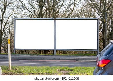 Billboards concept. Installed as a rectangle on the wall. and cars on the road as an element.