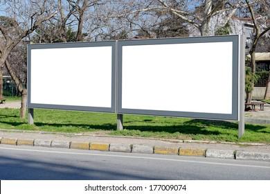 Billboards of Levent in Istanbul / TURKEY