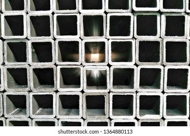 billets of square metal profiles