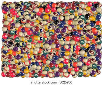 Billiard balls background. From The Sports & Games background series