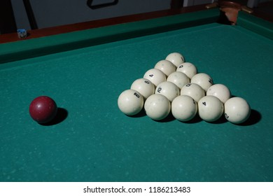 billiard balls in the pyramid