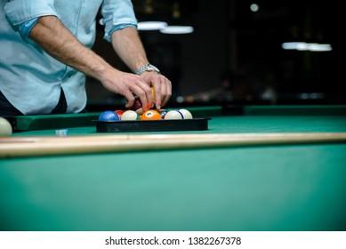 Billiard balls. Recreation after a hard day
