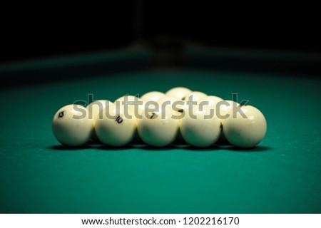 Pool Table Setup >> Billiard Balls Setup On Pool Table Stock Photo Edit Now 1202216170