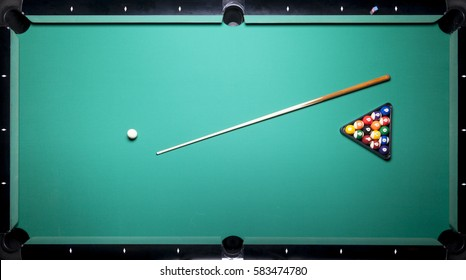 Billiard table, top view
