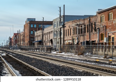 Billings, Montana. Urban view from the railroad.