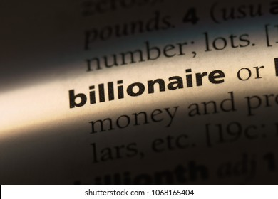 billionaire word in a dictionary. billionaire concept.