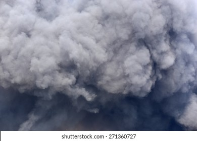 Billowing Black Smoke from ignition midden