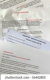 lot of bills with final demands
