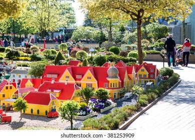 Billund, Denmark, APRIL 27, 2015 - Legoland in Billund