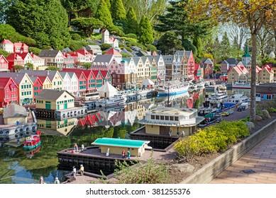 Billund, Denmark, APRIL 27, 2015 - Legoland in Billund, Denmark