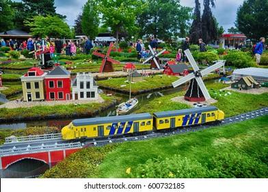 Billund, Denmark - July 2016 - Legoland - Lego village
