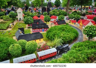 Billund, Denmark - July 2016 - Legoland - Lego Danish village