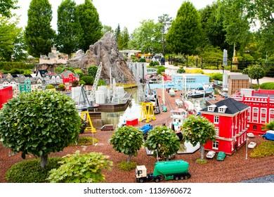 Billund Denmark, June 15 2018 - Legoland in Billund Denmark