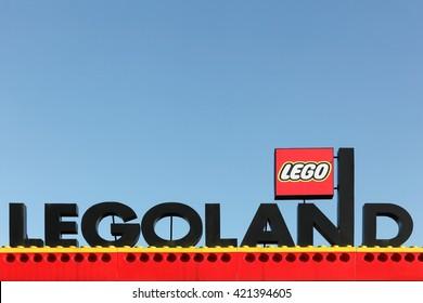 Billund, Denmark - May 14, 2016: Legoland Resort in Billund. Legoland Billund, the original Legoland park, opened on June 7, 1968 in Billund, Denmark