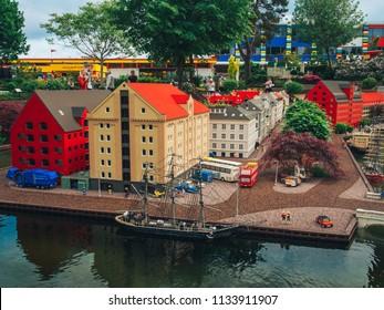 Billund, Denmark - May 27, 2018: Legoland Resort in Billund, Denmark.