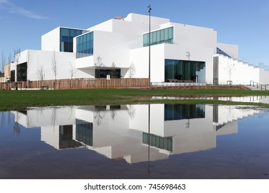 Billund, Denmark - October 30, 2017: The Lego House is a building in Billund, Denmark, the city of the brand of Lego and It was inaugurated in september 2017
