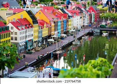BILLUND - July 31, 2013: Legoland in Billund, Denmark on July 31, 2013. Amusement park of Legoland in Denmark.