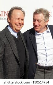 Billy Crystal, Robert De Niro at the Robert De Niro Hand and Foot Print Ceremony, Chinese Theater, Hollywood, CA 02-04-13
