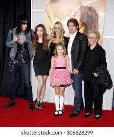 Billy Ray Cyrus, Tish Cyrus, Brandi Cyrus and Trace Cyrus at the Los Angeles premiere of 'The Last Song' held at the ArLight Cinemas in Hollywood, USA on March 25, 2010.