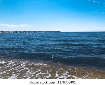 Biloxi Mississippi pier, Gulf Coast