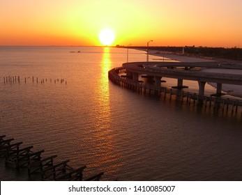 Biloxi Mississippi Sunset on the Gulf