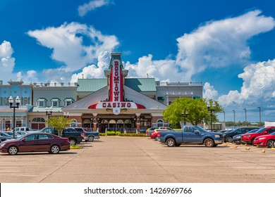 Biloxi Mississippi, USA, june 16, 2019. Located on Back Bay Biloxi. This is the only casino with an RV park in Biloxi.