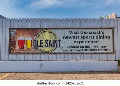 Biloxi Mississippi, USA, june 16, 2019.  Duce McAllister's Ole Saint Kitchen & Tap is located inside Boomtown casino