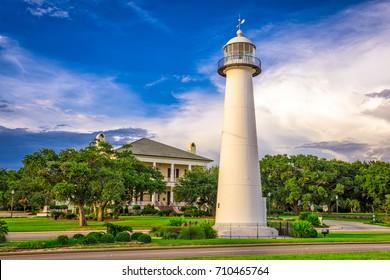 Biloxi, Mississippi USA at Biloxi Lighthouse.