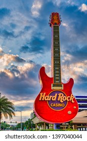 Biloxi Mississippi, USA, May/13/2019 hard rock casino guitar landscape photo