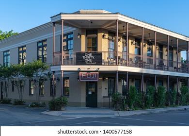 Biloxi Mississippi, USA, May/15/2019. One Thirty One Lounge and Fuji Sushi House