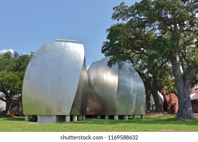 BILOXI, MS -24 AUG 2018- View of the landmark Ohr-O'Keefe Museum Of Art, dedicated to the Mad Potter of Biloxi, in Biloxi, Mississippi.