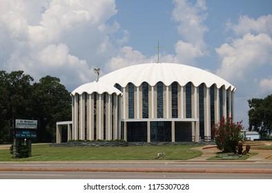 BILOXI, MS -24 AUG 2018- View of the St Michael Catholic Church of the Fishermen in Biloxi, Mississippi.