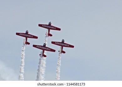 Biloxi, MS - July 21, 2018 : Aeroshell aircraft in Biloxi, MS
