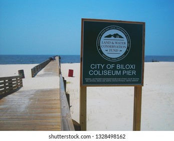 Biloxi,MS / USA (5-21-2011):  The Coliseum Pier, located across from the Mississippi Coast Coliseum.