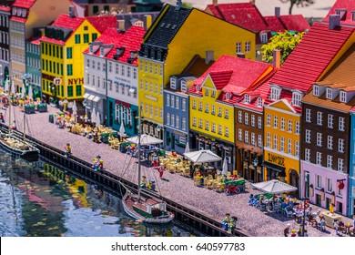 Bilund, Denmark - April 30, 2017: Miniatures in Legoland, Bilund