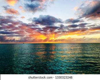Bimini bahamas ocean sunset