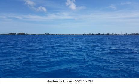 Bimini Island, Bahamas, from the ocean