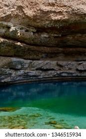 Bimmah Sinkhole in Muscat, Oman.