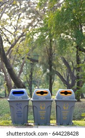 bin and type recycle english and thai Language
