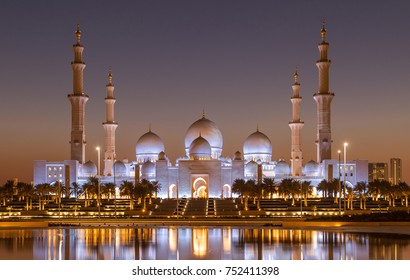 Bin Zayed Grand Mosque at Golden Hour