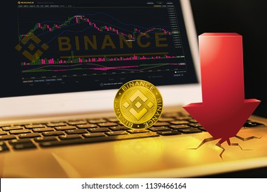 Binance is a finance exchange market. Crypto Currency background concept. Cryptocurrency BNB Binance coin