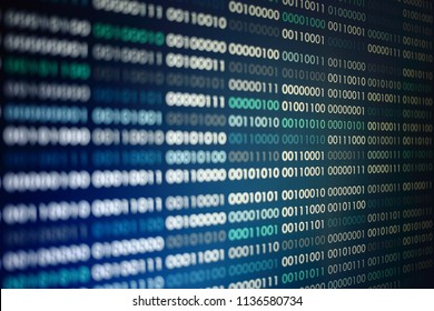 binary code computer technology background. computer language data transfers. big data and ai artificial intelligence cyber network. digital business environment.