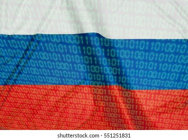 Binary Code on the flag of Russia